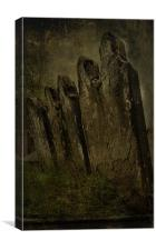 Leaning Stones, Canvas Print