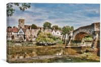 Low Tide At Aylesford, Canvas Print