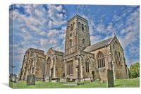 St Mary Wedmore, Canvas Print
