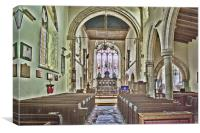 St Mary The Virgin Brabourne, Canvas Print