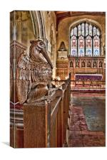 Pelican In Piety, Canvas Print