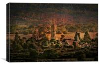Hadlow Tower and St Marys Church, Canvas Print