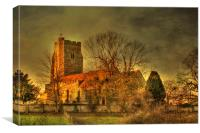 St Mary The Virgin Newington From The East, Canvas Print