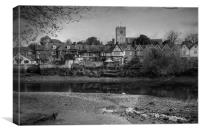 Aylesford At Low Tide, Canvas Print