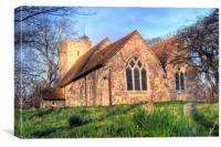 Early Morning Daffodils at St Augustines, Canvas Print