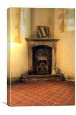 Old Fireplace, Canvas Print