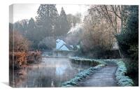 Causeway To The Chequers, Canvas Print