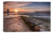 Margate Harbour At Low Tide, Canvas Print