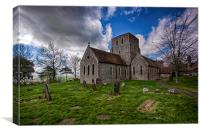St Stephens Church Lympne, Canvas Print