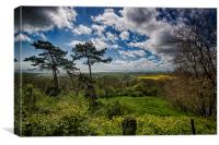 The View From Lympne Churchyard, Canvas Print