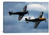 The Spitfire and Mustang, Canvas Print