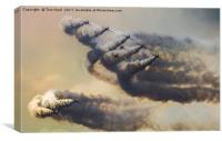 Red Arrows Storm, Canvas Print