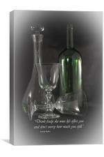 Drink Freely, Canvas Print