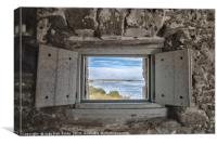 South View from Fort Matanzas, Canvas Print