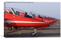 The Red Arrows Line Up, Canvas Print