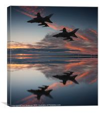 Tornado GR4 sunset, Canvas Print