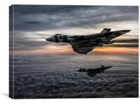 Avro Vulcan Formation, Canvas Print