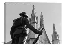 WW1 Soldier Winchester Cathedral, Canvas Print