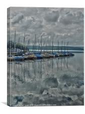 mohne lake, Canvas Print
