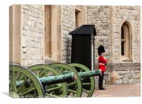 Welsh Guard Tower of London, Canvas Print