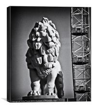 London Eye Lion, Canvas Print