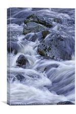 Silky White Water, Canvas Print