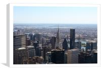 Chrysler Building from Empire State, Canvas Print