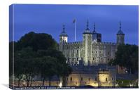 Tower of London At Night, Canvas Print