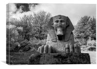 Sphinx at Crystal Palace Park, Canvas Print