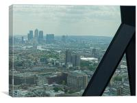 London Docklands from the Gerkin, Canvas Print