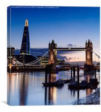 St Katherine's Pier and Tower Bridge at Sunset, Canvas Print