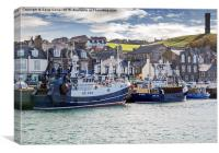 Fishing boats in Macduff harbour, Canvas Print