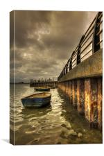 Harbour wall, Canvas Print