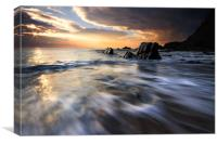 The day concludes at Duckpool Bay, Canvas Print