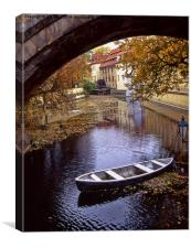 A Backwater in Prague, Canvas Print