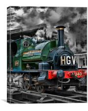"GWR Saddle Tank ""Trojan"", Canvas Print"