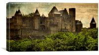 Towers of Carcassonne, Canvas Print