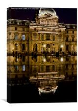 Reflections of the Louvre Palace, Canvas Print