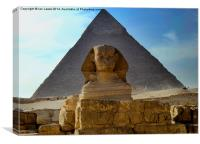 The Sphynx and Great Pyramid, Canvas Print