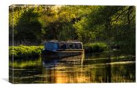 Evening on the Kennet, Canvas Print