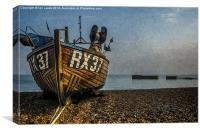 Hastings Fishing Boat, Canvas Print