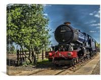 King Edward II Hauling The Mail, Canvas Print