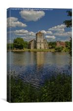 Across the Thames to Bisham, Canvas Print