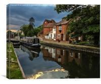Reflections At West Mills Newbury, Canvas Print
