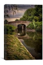 Enborne Bridge Newbury, Canvas Print
