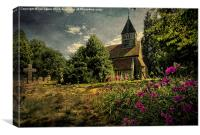 Church of St Laurence Tidmarsh, Canvas Print