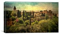 The Alhambra Granada, Canvas Print