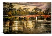 Sonning on Thames, Canvas Print