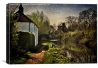 Cottage By The Kennet , Canvas Print