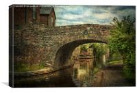 Canal Bridge In Brecon, Canvas Print